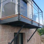 balcon métal et verre -platelage bois