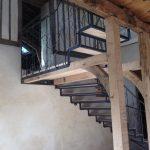 escalier chêne - métal décor plante grimpante